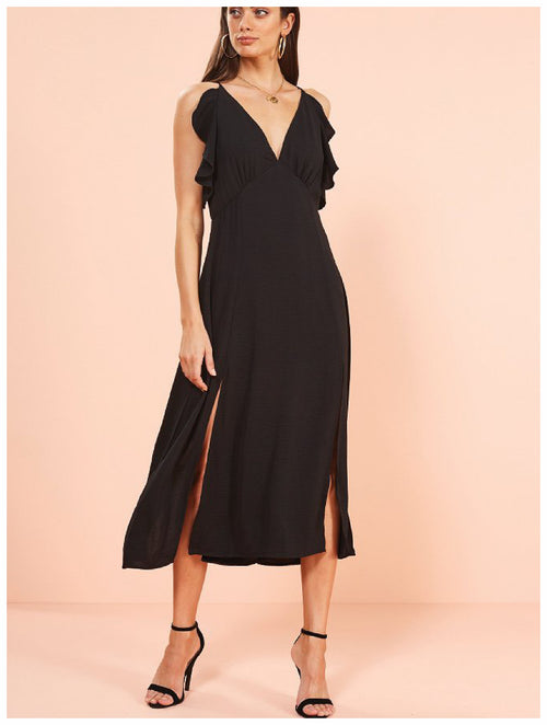 MinkPink Vera Maxi Dress Black