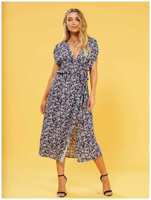 MInkPink Jasmine Floral Wrap Dress