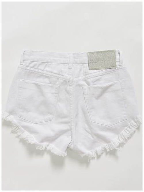 One Teaspoon White Beauty Outlaw Denim Shorts