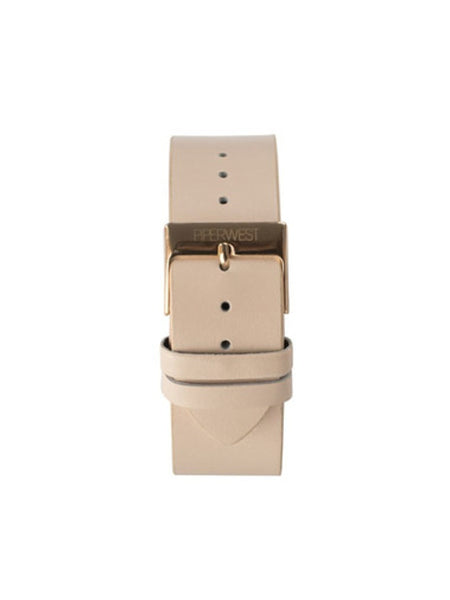 Piperwest Leather Strap in Blush and Rose Gold