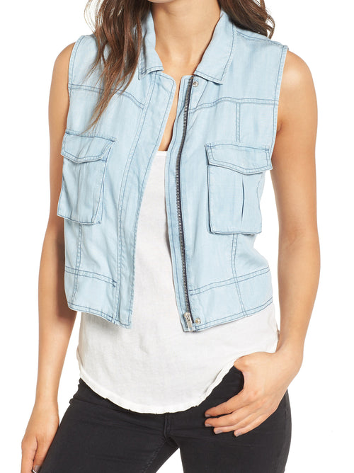 BB Dakota Xavier Chambray Vest