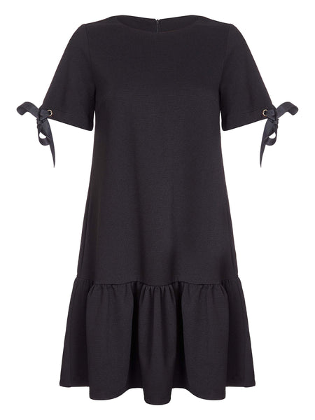 YUMI - Ponte Dress with Eyelets