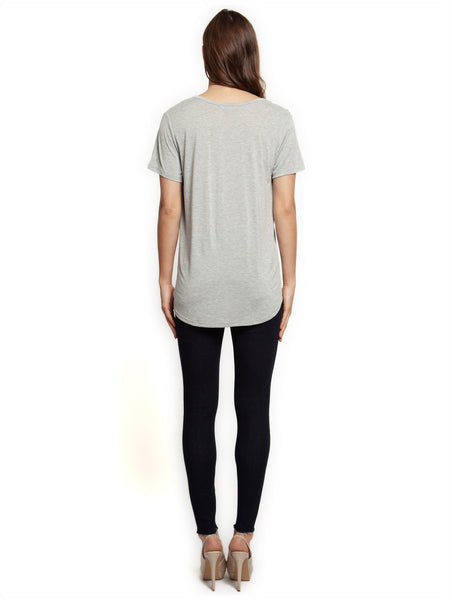 Dex Scoop Neck Tee - Grey