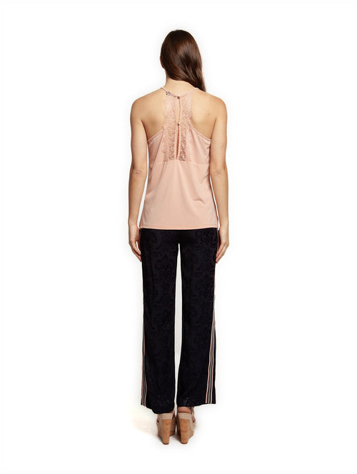 Dex Cami with Lace Detail - Rose