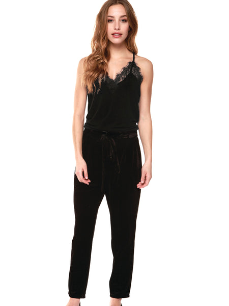 Dex Cami with Lace Detail - Black