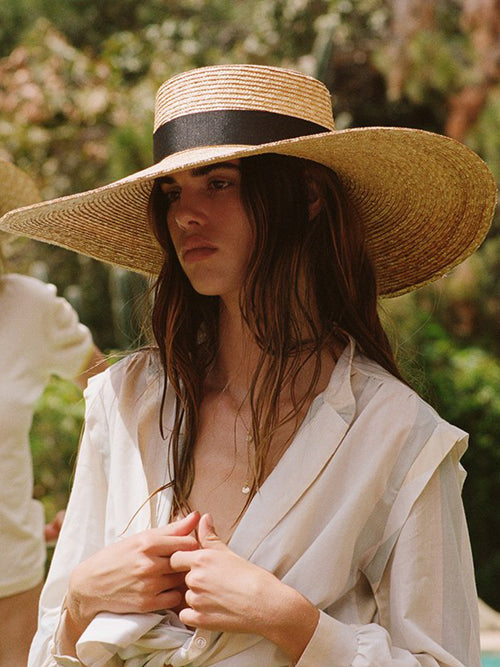 Lack of Color Ultra Wide Spencer Boater Straw Hat