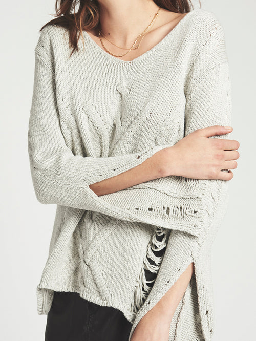 One Teaspoon Nemesis Distressed Sweater