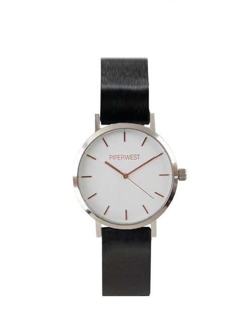 PIPERWEST - MINI DUO MINIMALIST 32M SILVER/ROSE GOLD/BLACK TIMEPIECE