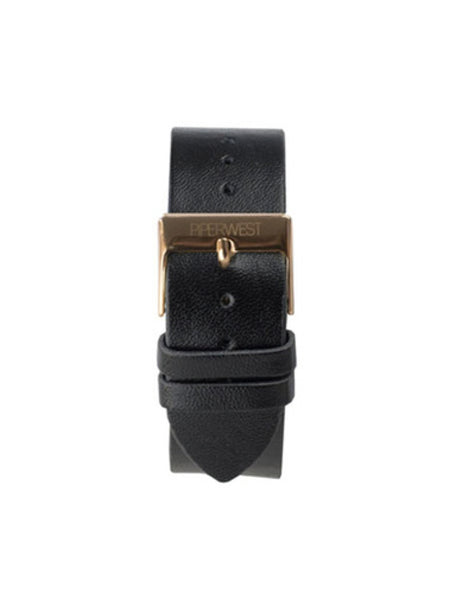 Piperwest Leather Strap in Black and Rose Gold