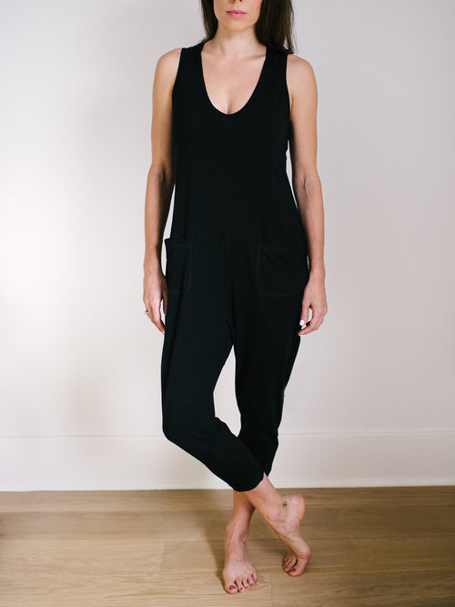 Smash & Tess - Saturday Romper - Midnight Black