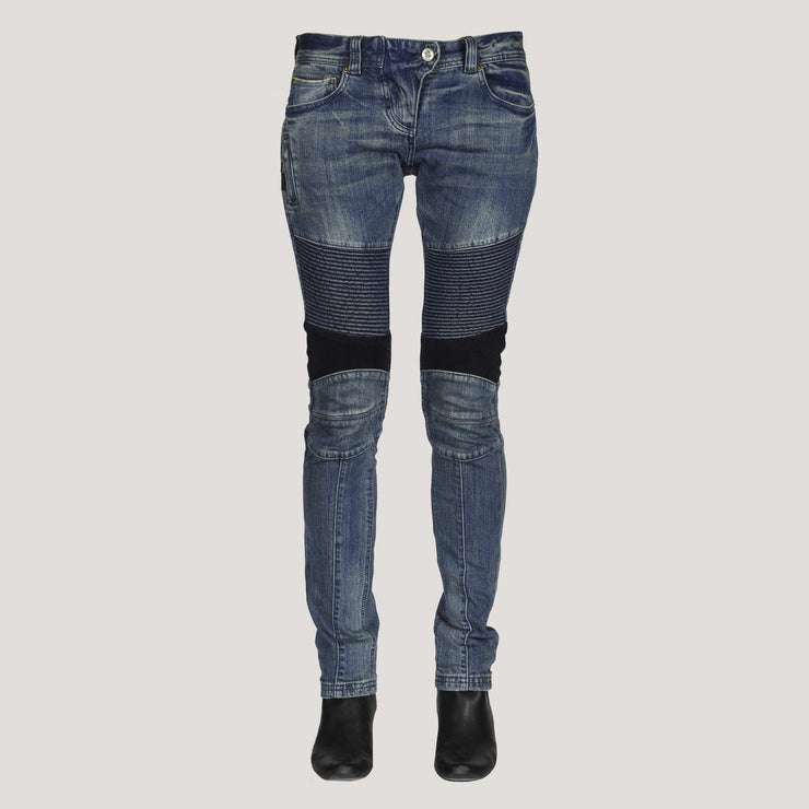 DKShin (FRENCH) Ladies Japanese Selvedge Moto Jeans W/ Spandex for amazing comfort. - DAE K. SHIN & CO.