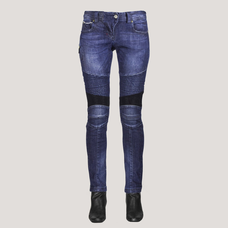 DKShin (ITALIAN) Ladies Japanese Selvedge Moto Jeans W/ Spandex for amazing comfort. - DAE K. SHIN & CO.