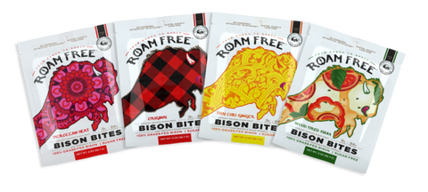 Bison Bites 4-Flavor Variety Pack - MT grass-fed Roam Free Bison