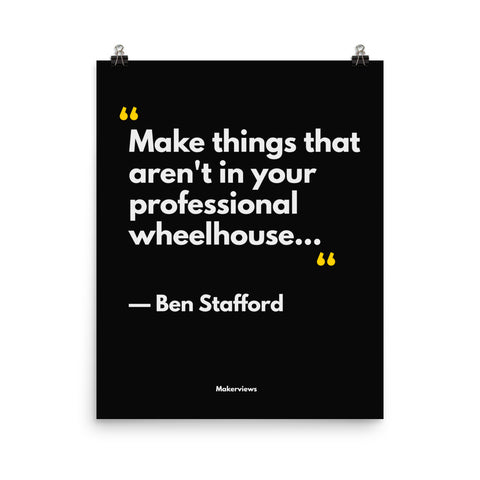 Designer Quote Poster - Make Different Things - Ben Stafford