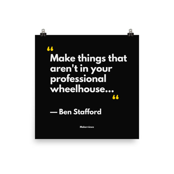 Illustrator Quote Poster - Make Different Things - Ben Stafford