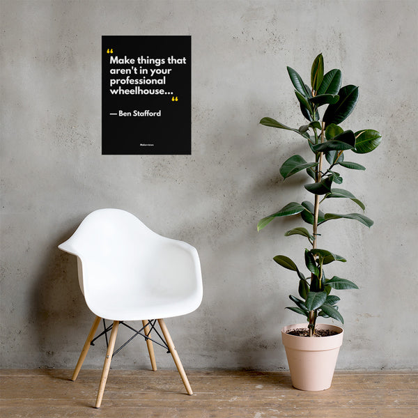 Minimal Decor - Hanging Quote Poster - Make Different Things - Ben Stafford