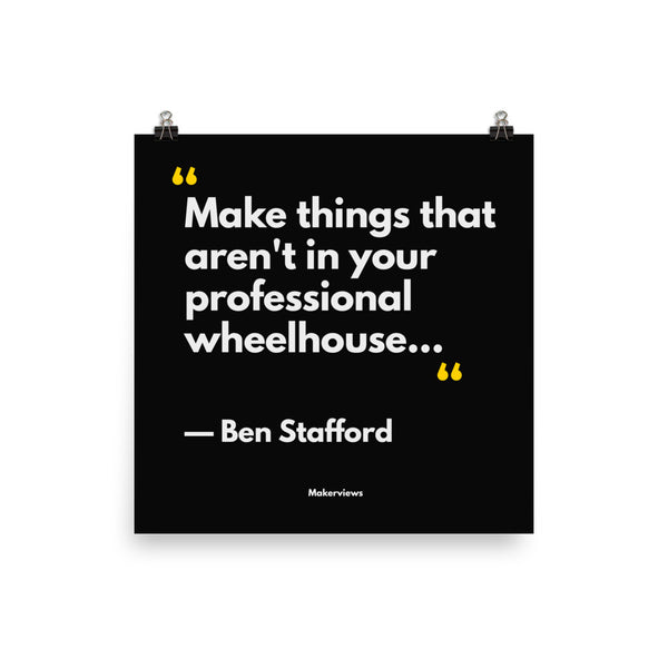 Inspirational Quote Poster - Make Different Things - Ben Stafford
