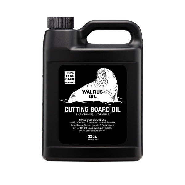 32oz Natural, food-safe cutting board butcher block oil - Walrus Oil