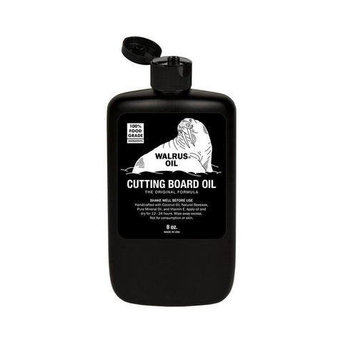 Natural, food-safe cutting board butcher block oil - Walrus Oil
