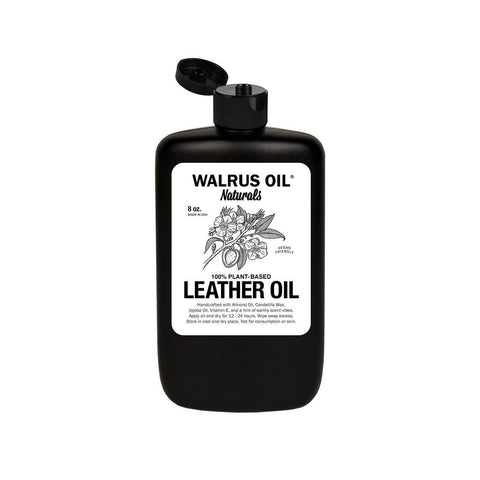 Leather oil, balm, and conditioner - 100% vegan and natural ingredients which conditions leather boots and goods