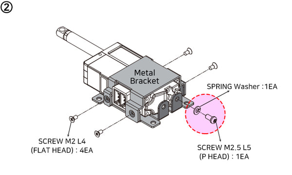 Metal Bracket (IR-MB02) - 27mm(1.06in) Stroke Version Only