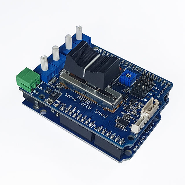 Arduino Servo Tester Shield (IR-STS01) for mightyZAP