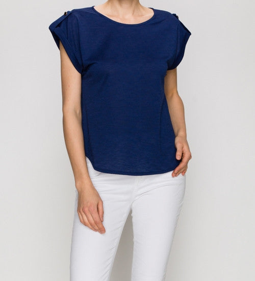 Short Sleeve Basic Shirt Navy