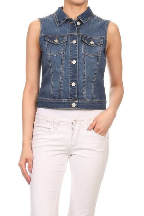 Basic Jean Vest Denim