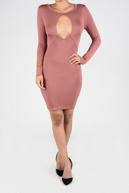 Sweetheart Bodycon Dress Blush