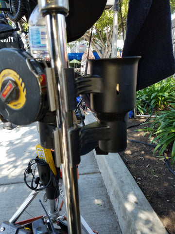 film caddy robocup clamp on dual drink holder grip camera