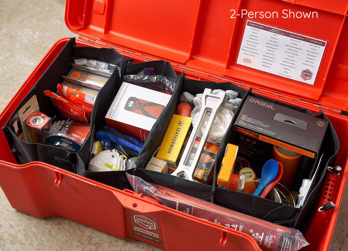 3-Person Comprehensive Earthquake Kit
