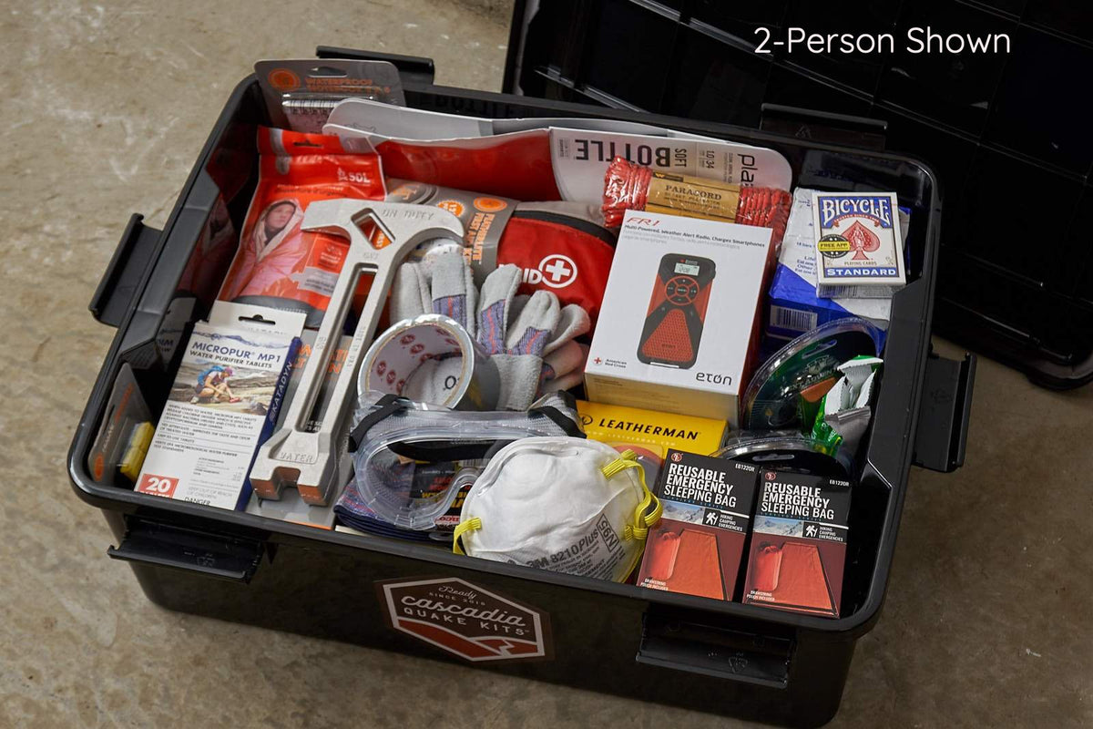 3-Person Essential Earthquake Kit