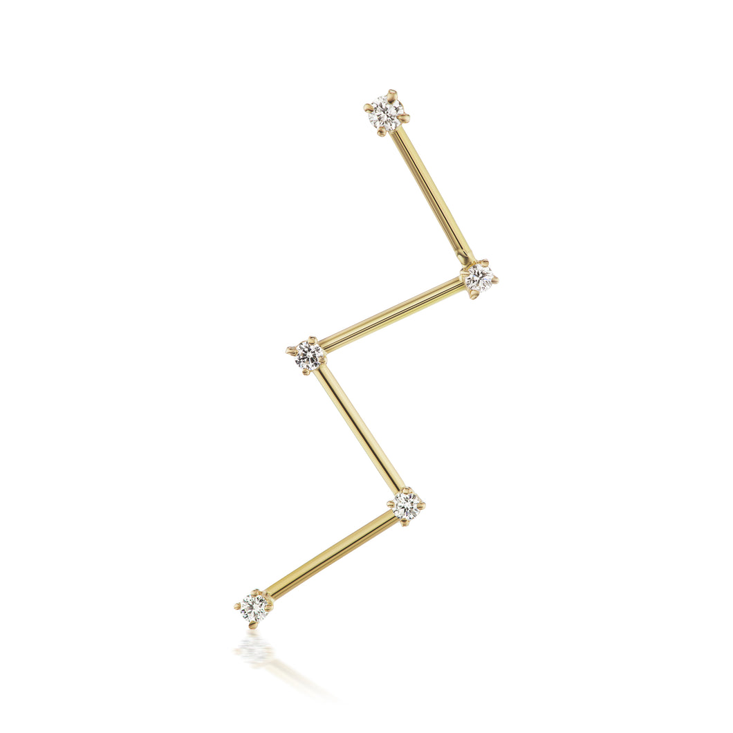 Cassiopeia Earring, single