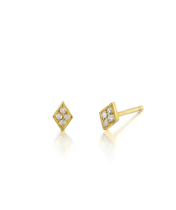 Diamond Shaped Diamond Studs