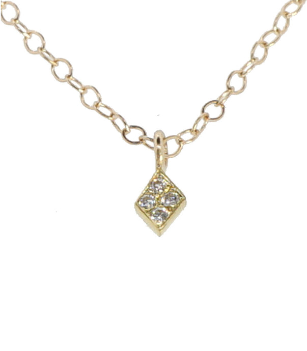 Diamond Shaped Diamond Necklace, mini