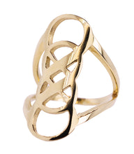 Double Infinity Ring, Gold