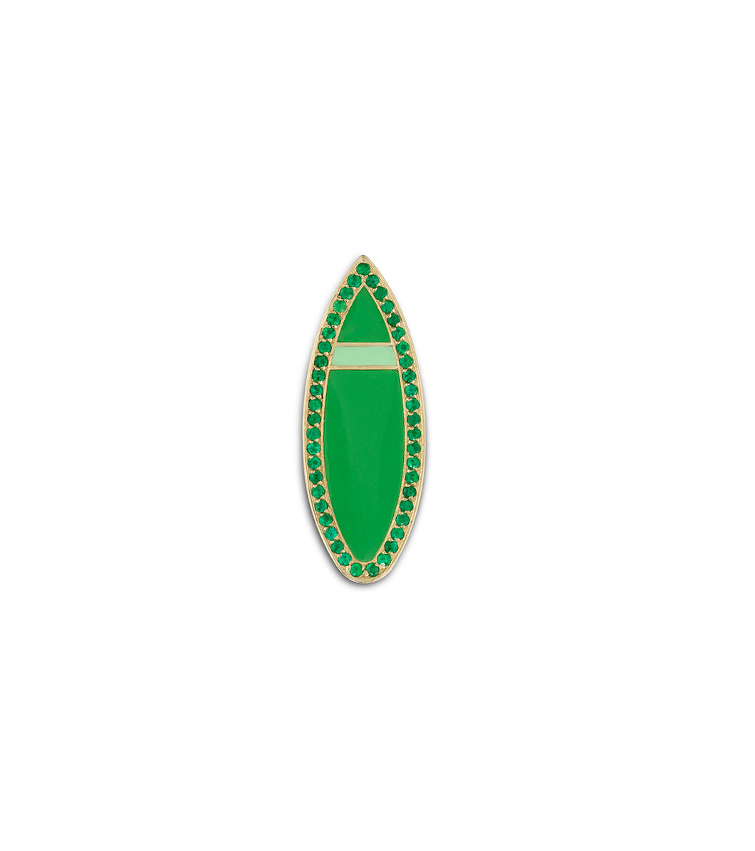 Emerald Malibu Short Board Necklace