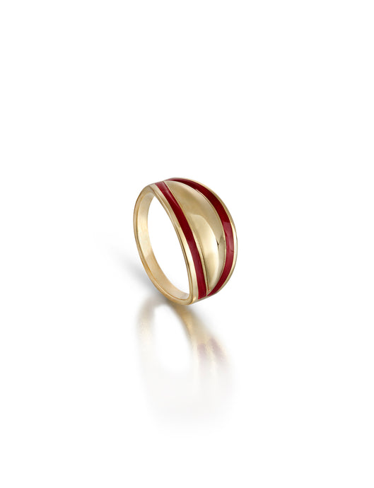 Enamel Edged Short Board Ring