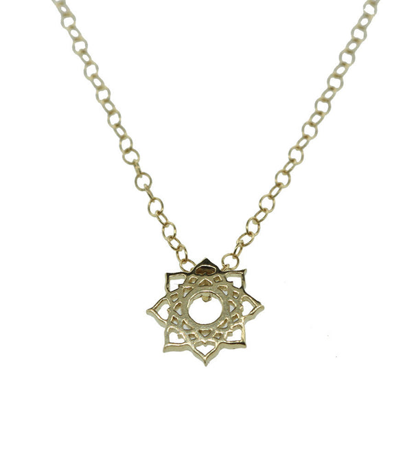 Lotus Circle Necklace, Small