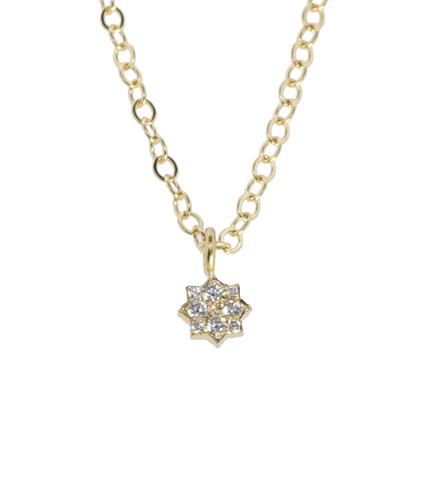 Lotus Diamond Pave Necklace