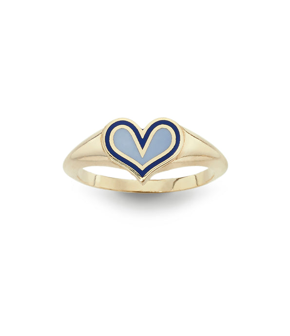 Surf Heart Ring