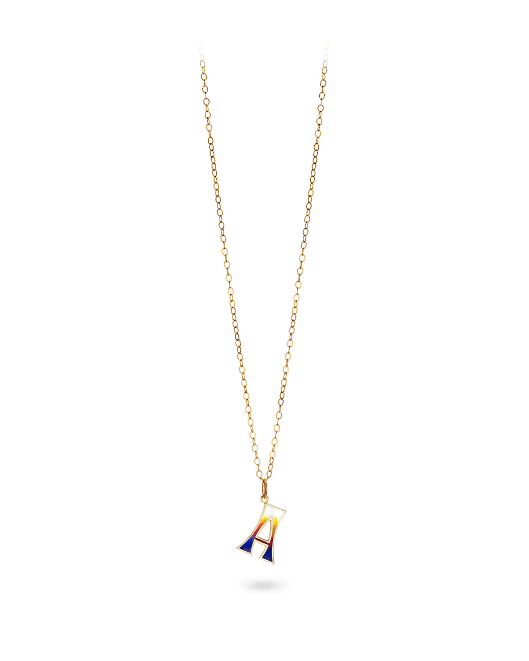 Capital Surf Initial Necklace