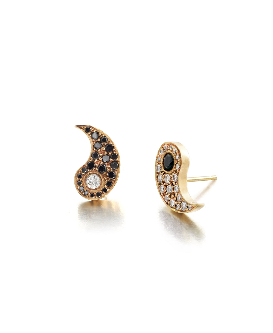 Yin Yang Diamond Earrings