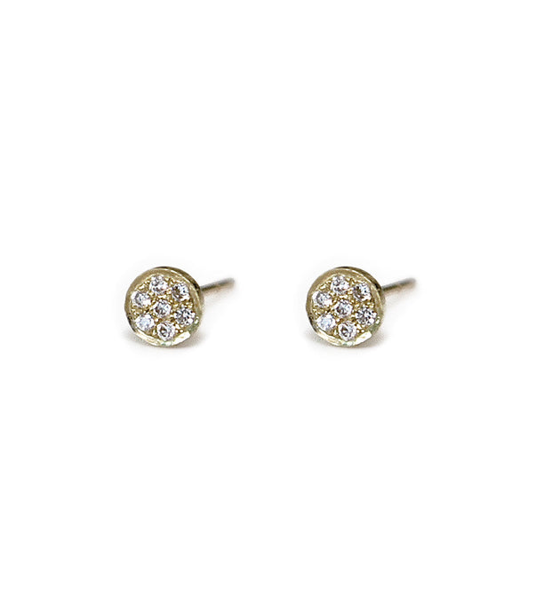 Circle Diamond Pave Studs