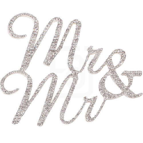 Mr & Mr Rhinestone Cake Topper