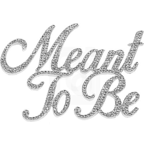 Meant To Be Rhinestone Cake Topper