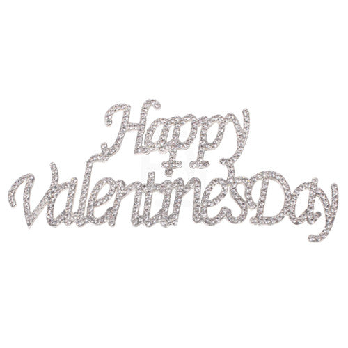 Happy Valentine's Day Rhinestone Cake Topper