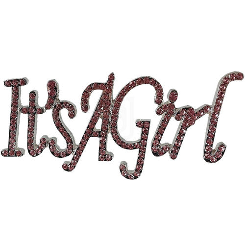 It's A Girl Rhinestone Cake Topper