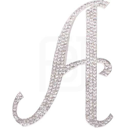 Rhinestone cake toppers Italic Letters