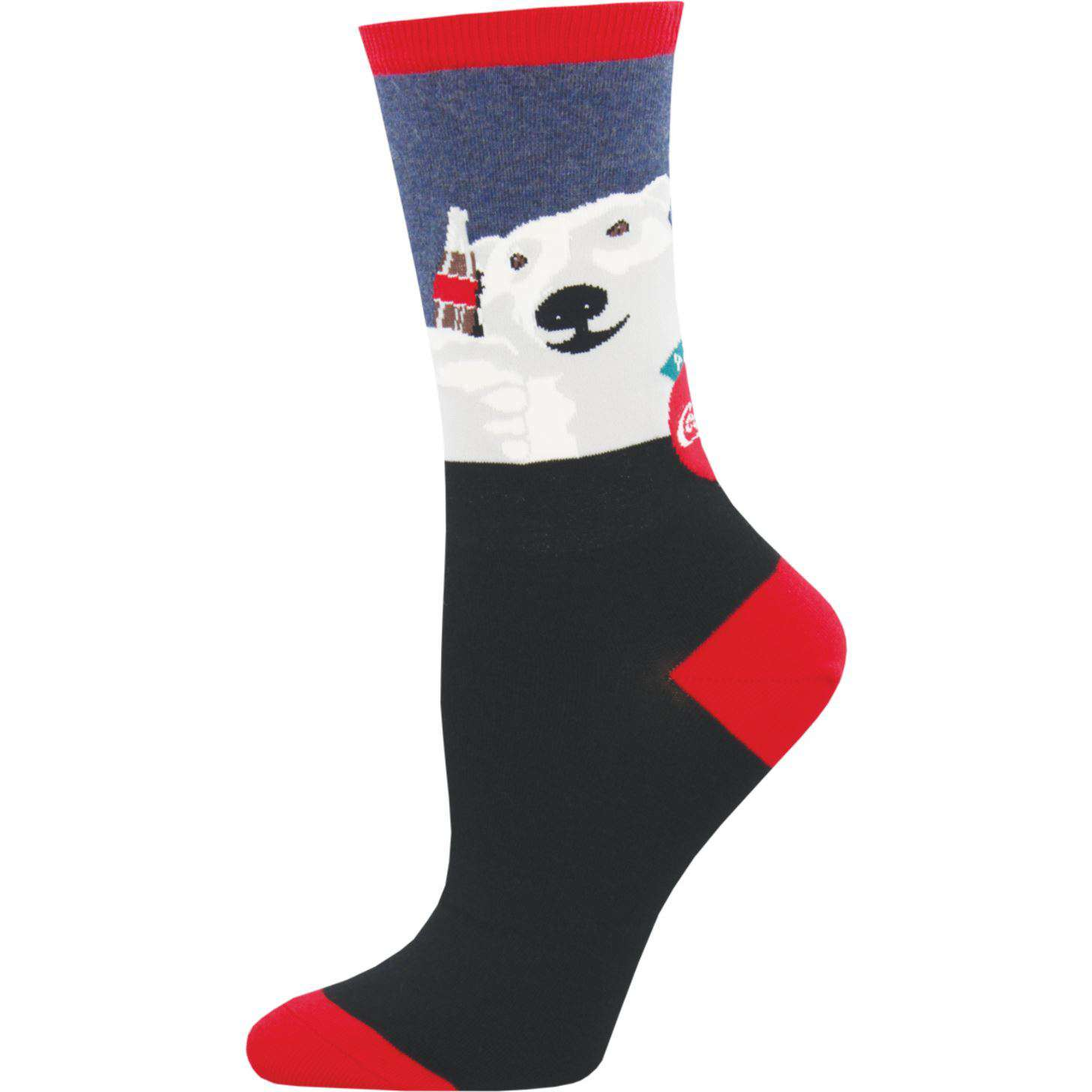 BAMSocks.com - Premium Luxury Socks Holiday Socks Coca-Cola Cheers Socks |  Women's Crew Socks